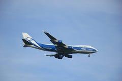 Amsterdão, os Países Baixos - 10 de agosto de 2015: VP-BIM AirBridgeCar Imagens de Stock