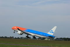 Amsterdão, os Países Baixos - 2 de junho de 2017: Linhas aéreas de PH-BVA KLM Royal Dutch Foto de Stock Royalty Free