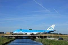 Amsterdão, os Países Baixos - 9 de junho de 2016: PH-BFR KLM Boeing 74 Fotos de Stock