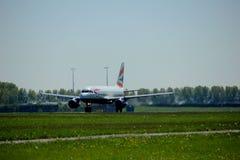 Amsterdão os Países Baixos - 4 de maio de 2018: G-DBCJ British Airways Airbus A319-100 Fotografia de Stock