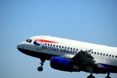 Amsterdão os Países Baixos - 4 de maio de 2018: G-DBCJ British Airways Airbus A319-100 Imagens de Stock