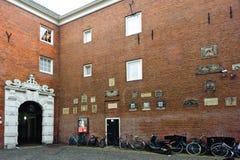 AMSTERDÃO, PAÍSES BAIXOS - 12os de março de 2012: Museu de Amsterdão olá! Fotos de Stock Royalty Free