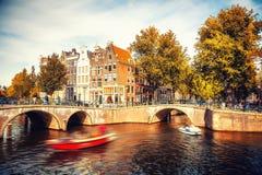 Amsterdam à l'automne photo libre de droits