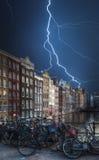 Amsterdam środkowa dziejowa część miasto Zdjęcie Royalty Free