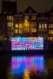 Amsterdam światła festiwal 2016 - Wpólnie Zdjęcia Stock