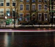 Amsterdam światła festiwalu 2016-Path skrzyżowanie Obrazy Royalty Free