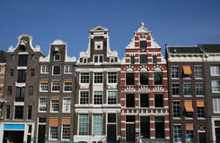 Amsterdam. Facade of Historic houses in Amsterdam, Netherlands stock photos
