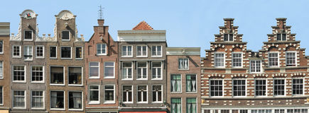 Amsterdam. Facade of Historic houses in Amsterdam, Netherlands royalty free stock photography