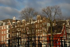 Amsterdam. Some canal houses in Amsterdam Stock Photos