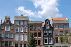 Amsterdam. Some typical Amsterdam canal houses in the city center Stock Image