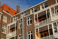 Amsterdam. The back of some houses in Amsterdam Stock Image