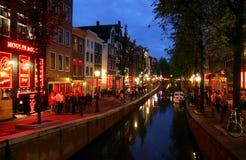 Amsterdam 2 wieczorem Fotografia Royalty Free