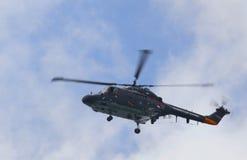 Amsterdam, 20 augustus-2010, Westland lynxhelikopter Royalty-vrije Stock Afbeeldingen