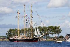 amsterdam 2010 ståtar seglar Arkivbilder