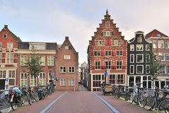 городок amsterdam старый Стоковое фото RF