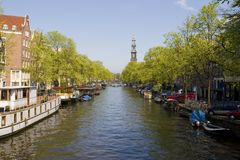 Amsterdam. The Jordaan in Amsterdam. Canals stock images