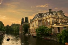 Amsterdam 7 kanał obrazy royalty free