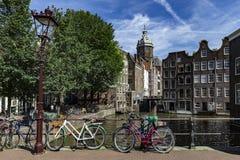 красный цвет света заречья amsterdam Стоковая Фотография