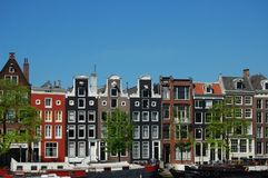 the amsterdam canal houses  Royalty Free Stock Photo