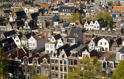 Amsterdam from above royalty free stock photo
