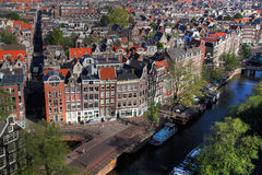 Amsterdam aerial 01, Netherlands Stock Photos
