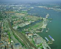 Amsterdam aerial view Stock Images