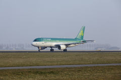 Amsterdam Airport Schiphol - Airbus 320 of Aer Lingus takes off Royalty Free Stock Image