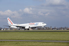 Amsterdam Airport Schiphol - AirEuropa Boeing 737 lands Stock Photography