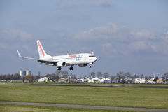 Amsterdam Airport Schiphol - AirEuropa Boeing 737 lands Royalty Free Stock Images