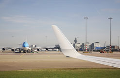 Amsterdam Airport Schiphol. Airplane. Netherlands Royalty Free Stock Images