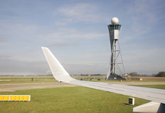 Amsterdam Airport Schiphol. Airplane. Netherlands Royalty Free Stock Photos