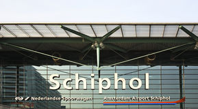 Amsterdam Airport Schiphol. Entrance. Netherlands Royalty Free Stock Image
