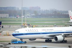 Amsterdam Airport Schiphol  The Netherlands -  April 14th 2018: B-5966 China Southern Airlines Royalty Free Stock Photos
