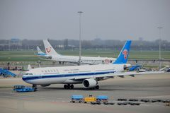 Amsterdam Airport Schiphol  The Netherlands -  April 14th 2018: B-5966 China Southern Airlines Stock Photos