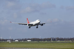 Amsterdam Airport Schiphol - Turkish Airlines Airbus A330 lands Stock Image