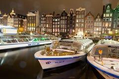 Amsterdam alla notte fotografia stock