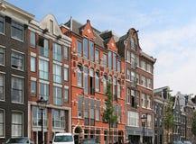 Amsterdam alloggia la via Fotografia Stock Libera da Diritti