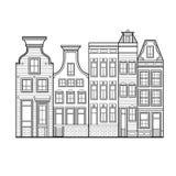 Amsterdam alloggia lo stile Paesi Bassi Immagini Stock