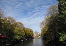 Amsterdam Amstel nel quartiere a luci rosse Fotografia Stock