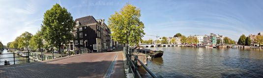 Amsterdam at the Amstel in the Netherlands Royalty Free Stock Image