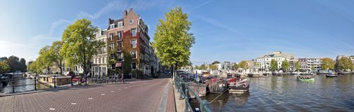 Amsterdam at the Amstel in the Netherlands Stock Images