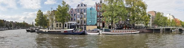 Amsterdam at the Amstel in the Netherlands Royalty Free Stock Photography