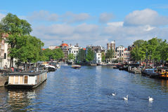 Amsterdam. Amstel River Royalty Free Stock Image