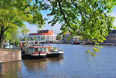 Amsterdam. Amstel river Royalty Free Stock Images
