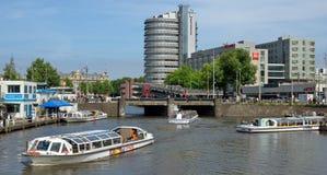 Amsterdam - Ansicht von Amsterdam-Stadt und -kanälen Lizenzfreie Stockfotografie