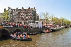 AMSTERDAM - APRIL 30: Celebration of queensday on April 30, 2012 Stock Image