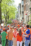AMSTERDAM - APRIL 30: Celebration of queensday on April 30, 2012 Royalty Free Stock Photography