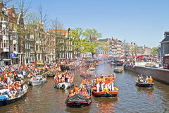 AMSTERDAM - APRIL 30: Celebration of queensday on April 30, 2012 Royalty Free Stock Photos