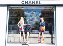 AMSTERDAM-APRIL 30: Chanel store in the P.C.Hooftstraat shopping street on April 30,2015 in Amsterdam. Stock Photo