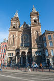 AMSTERDAM-APRIL 27: Church of St. Nicholas in the city centre district of Amsterdam on April 27,2015, the Netherlands. Stock Images